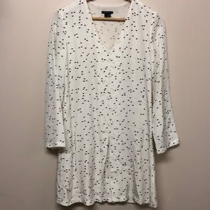 Theory silk long sleeve dress